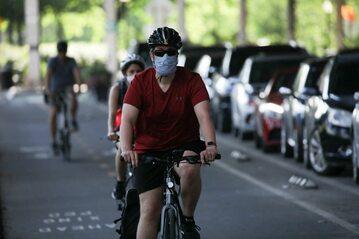 Rowerzysta w Waszyngtonie