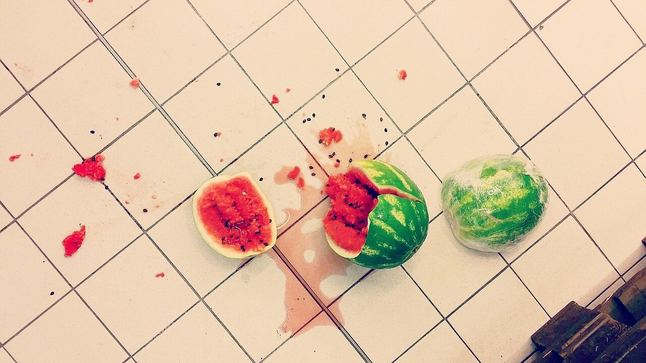 Rozbity arbuz