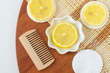 Rozjaśnianie włosów, sok z cytryny