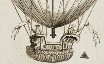 Rysunek balonu z 1784 r. załączony do jednego z warszawskich czasopism
