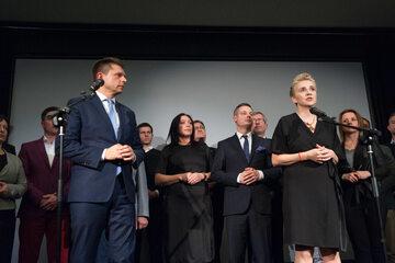 Ryszard Petru i Joanna Scheuring-Wielgus