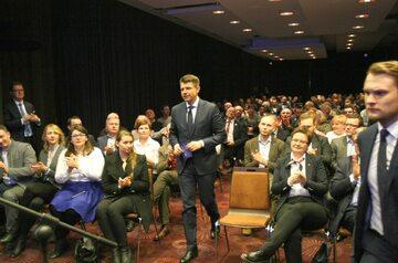 Ryszard Petru na spotkaniu z działaczami i politykami Nowoczesnej