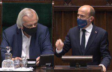 Ryszard Terlecki i Borys Budka w Sejmie