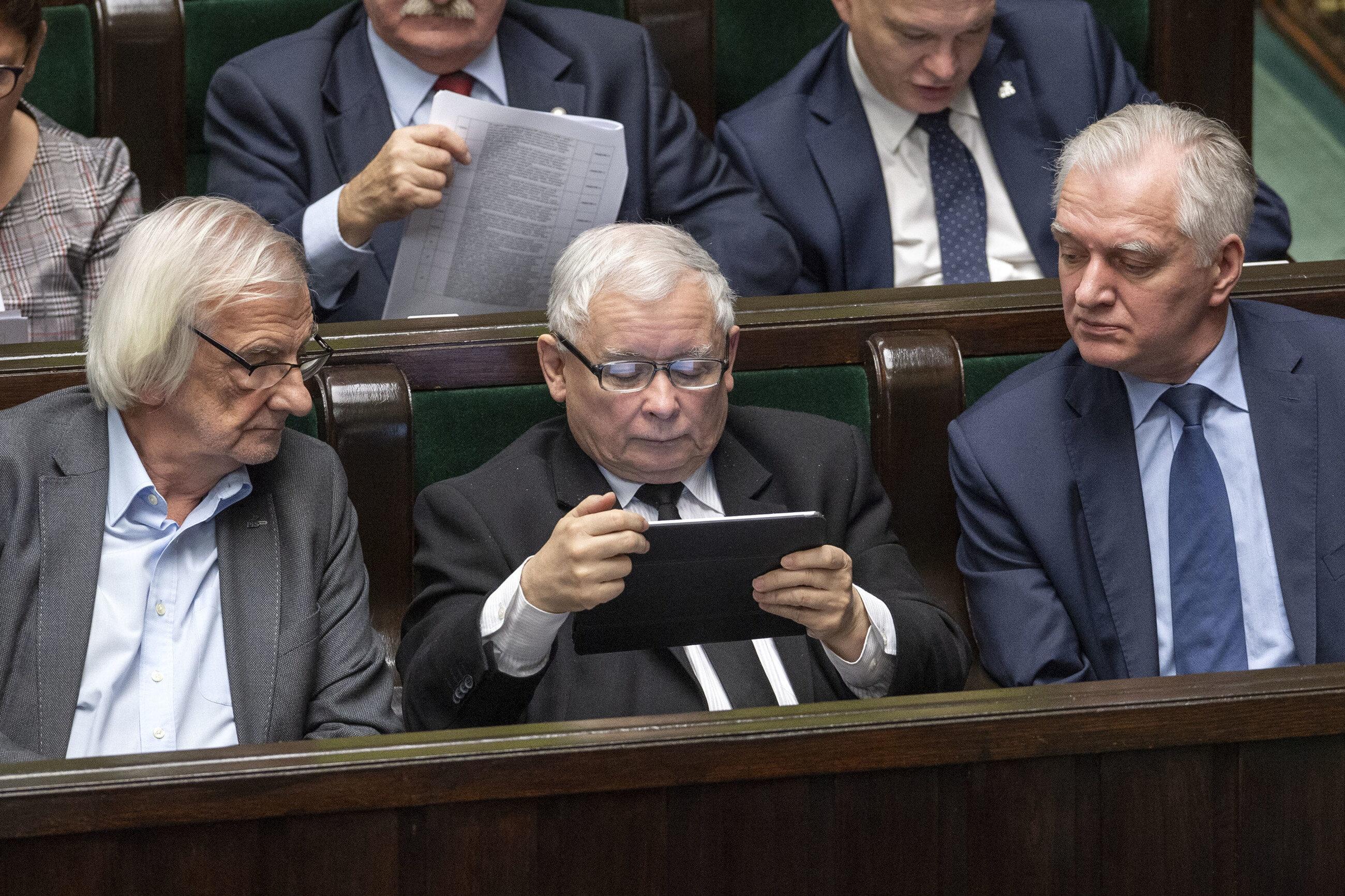 Ryszard Terlecki, Jarosław Kaczyński i Jarosław Gowin
