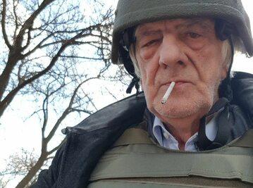 Ryszard Terlecki podczas wizyty w Donbasie