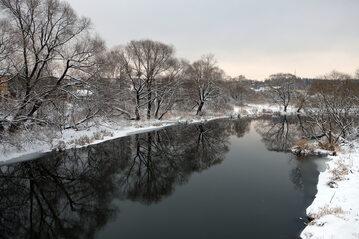 Rzeka, zima, zdj. ilustracyjne