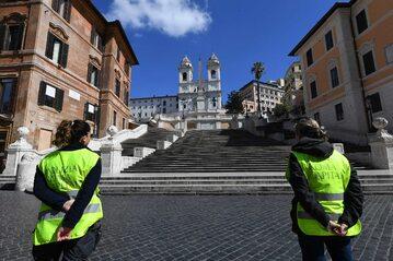 Rzymskie zabytki podczas trwania pandemii zamknięte są przed turystami