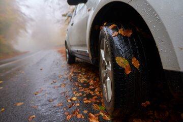 Samochód i jesień