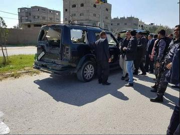 Samochód uszkodzony w zamachu