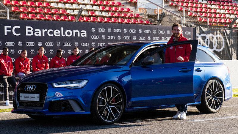 Samochody Audi piłkarzy Barcelony