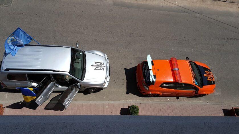 Samochody członków Automajdanu
