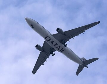 Samolot linii Quatar Airways
