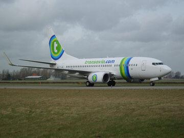 Samolot linii Transavia, zdjęcie ilustracyjne