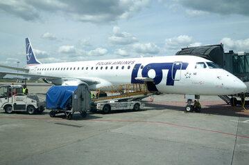 Samolot LOT, zdj. ilustracyjne