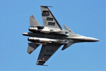Samolot należący do indyjskich sił powietrznych, zdjęcie ilustracyjne