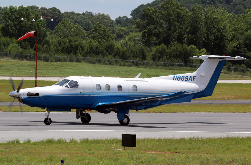 Samolot Pilatus PC-12, zdjęcie ilustracyjne