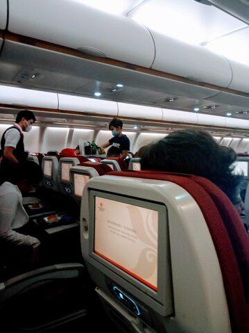Samolot z Chin po wybuchu epidemii koronawirusa