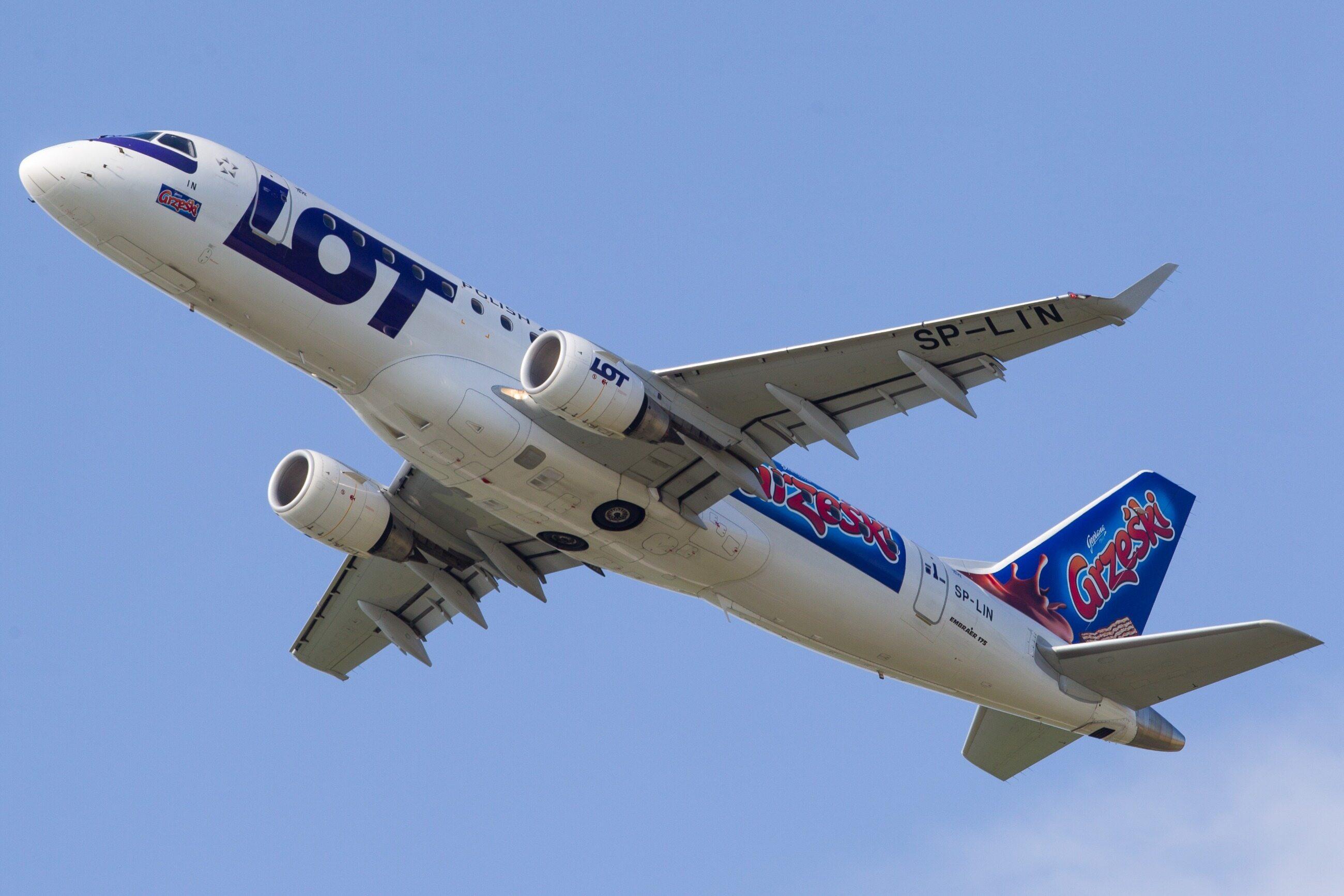 Samolot z logiem Grześków