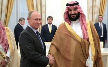 Saudyjski książę Mohammed bin Salman z Władimirem Putinem