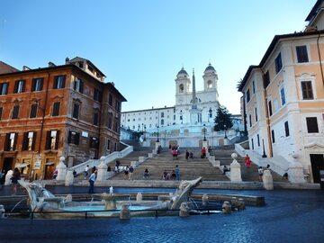 Schody Hiszpańskie w Rzymie