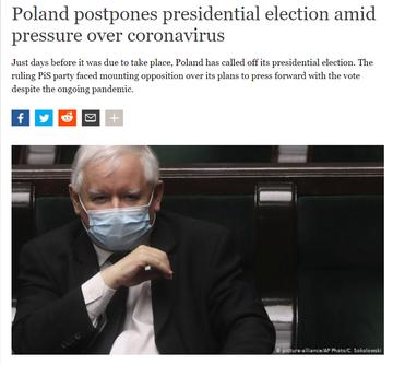 Screen z artykułu o przełożonych wyborach w Polsce