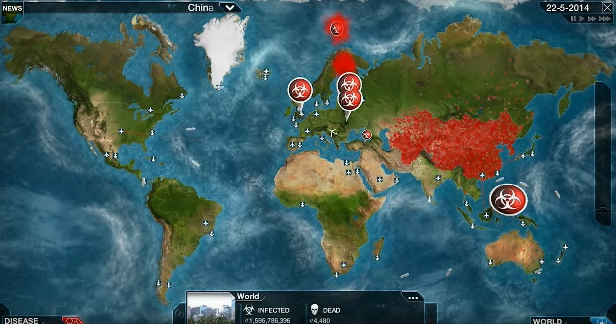 Screen z gry Plague Inc.