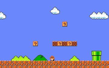Screen z gry Super Mario Bros.
