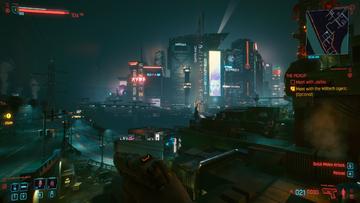 Screenshot z Cyberpunka 2077