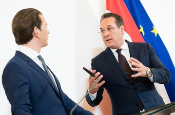 Sebastian Kurz i Heinz-Christian Strache