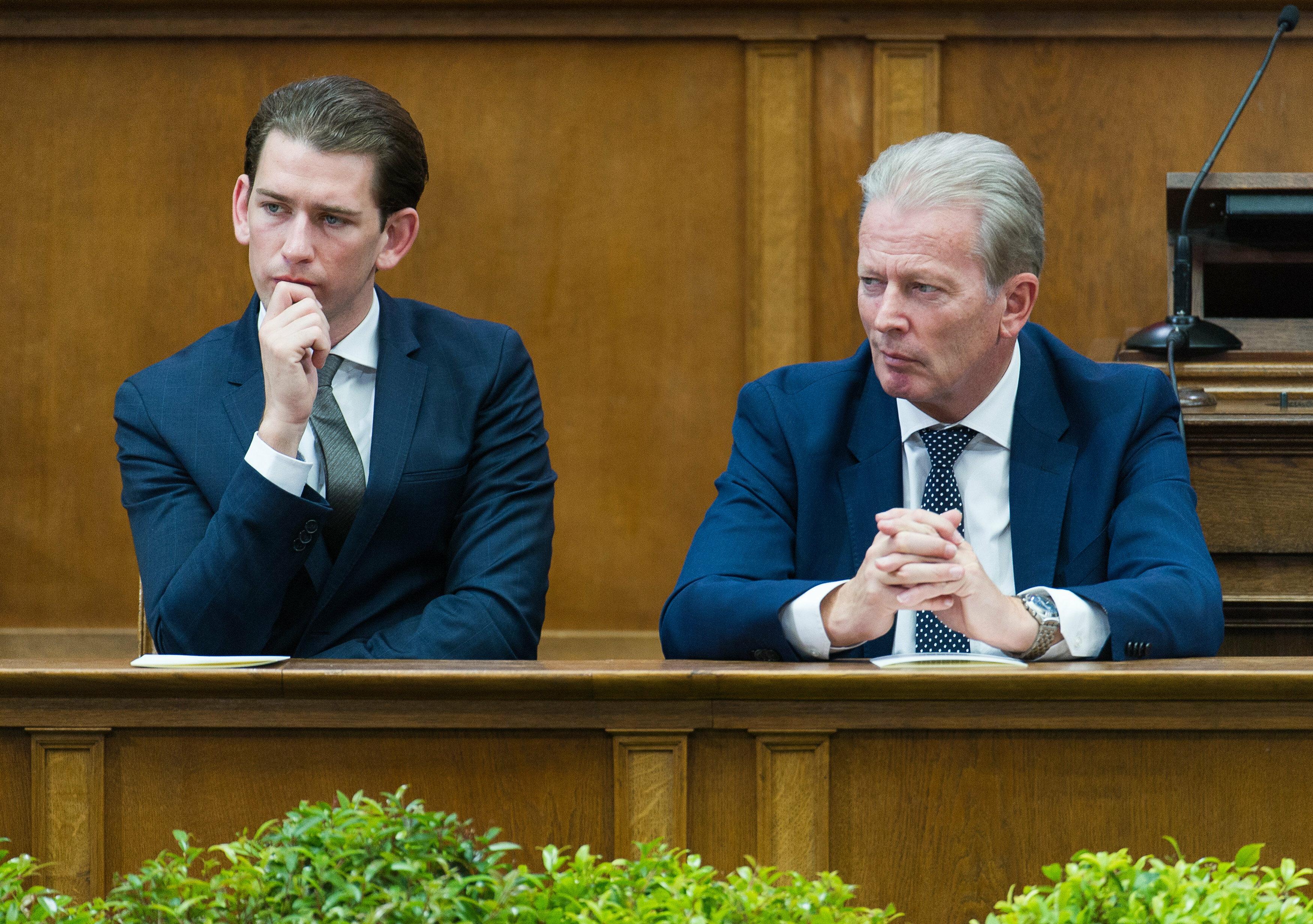 Sebastian Kurz i Reinhold Mitterlehner