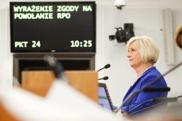 Senator Lidia Staroń w Senacie