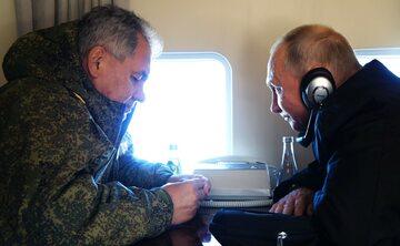 Siergiej Szojgu i Władimir Putin