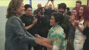 Sigourney Weaver zaskoczyła uczniów liceum