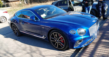 Skradziony Bentley został odzyskany poi 3 godzinach