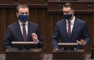 Sławomir Nitras i Łukasz Mejza