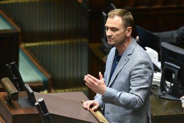 Sławomir Nitras podczas posiedzenia Sejmu