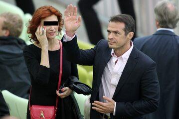 Sławomir Nowak z żoną w 2012 roku