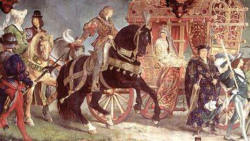 Ślub Jadwigi i Jerzego, malowidło z ratusza w Landshu