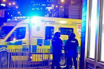 Służby w miejscu ataku w Manchesterze