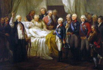 Śmierć Stanisława Augusta Poniatowskiego na obrazie Bacciarellego