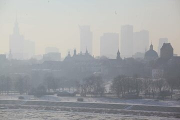 Smog nad Warszawą. 9 stycznia 2017