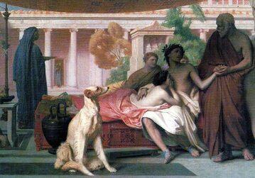 Sokrates szukający Alcybiadesa u Aspazji