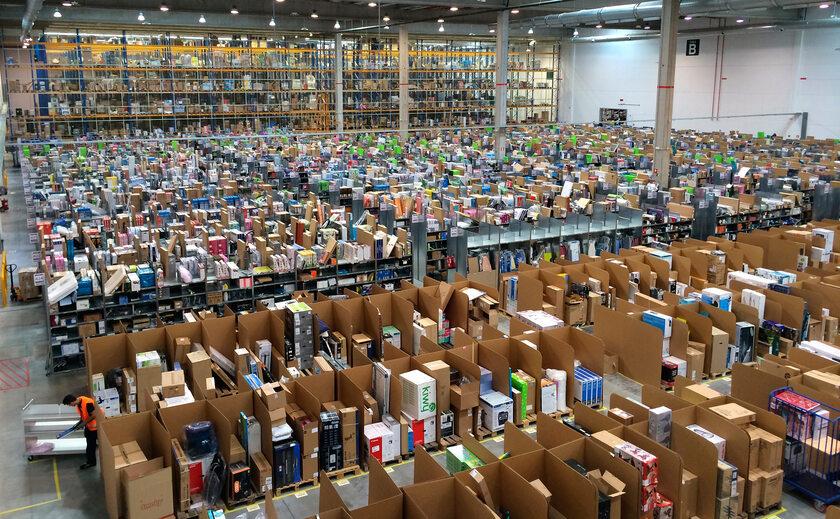 Sortownia sieci Amazon w Hiszpanii