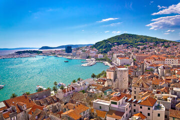 Split nabrzeże w Chorwacji
