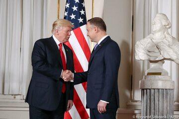 Spotkanie Andrzeja Dudy i Donalda Trumpa
