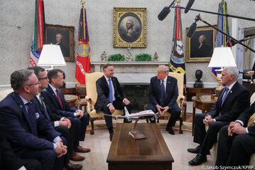 Spotkanie Andrzeja Dudy z Donaldem Trumpem