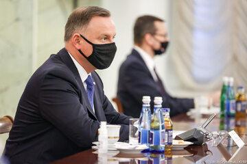 Spotkanie Andrzeja Dudy z Mateuszem Morawieckim