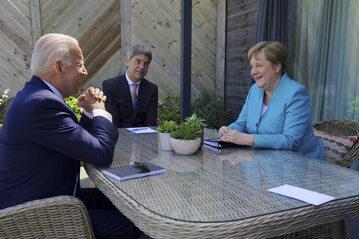 Spotkanie Joe Bidena z Angelą Merkel