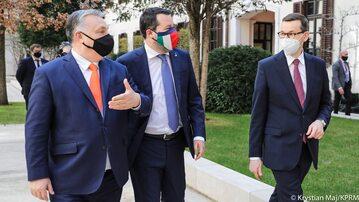 Spotkanie Mateusza Morawieckiego, Victora Orbana i Matteo Salviniego