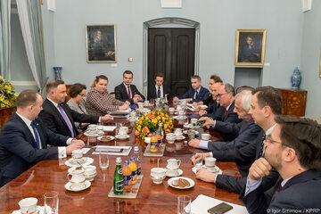 Spotkanie opozycji z prezydentem Dudą